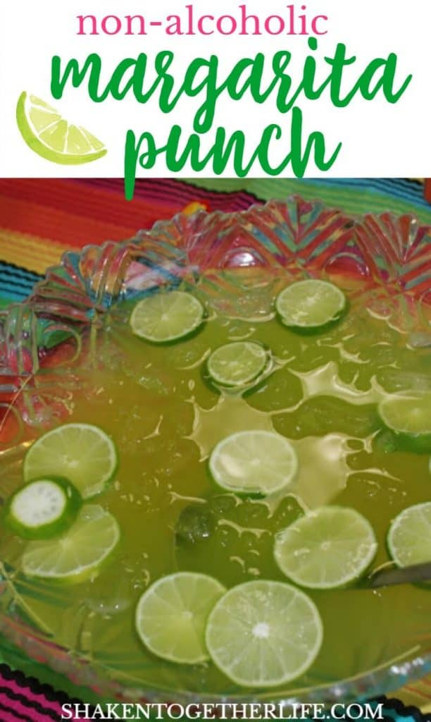 Non-alcoholic Maybe Margarita Punch - all the flavors of this classic drink and none of the booze! This family friendly punch is great for Taco Tuesday or any fun fiesta!