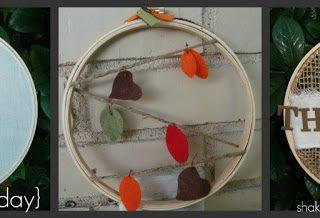 Fall embroidery hoop art at shakentogetherlife.com