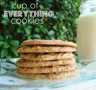 I LOVE this recipe for Cup of Everything Cookies! Easy to add in 1 cup of your favorite mix ins!