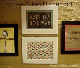 Easy coffee & tea kitchen art at shakentogetherlife.com