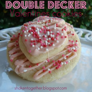 double decker valentines cookies & cookie pops