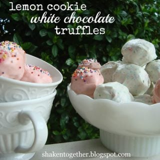 Easy No Bake Lemon Cookie White Chocoalte Truffles