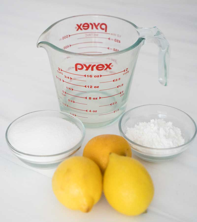 eggless lemon curd ingredients