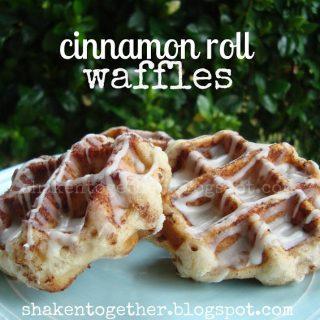 {taste this} cinnamon roll waffles