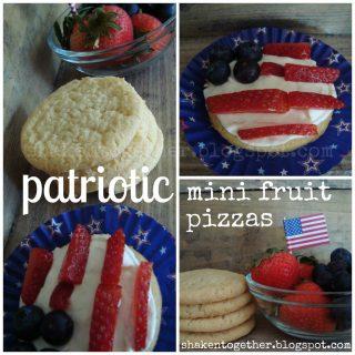 Patriotic Mini Fruit Pizzas