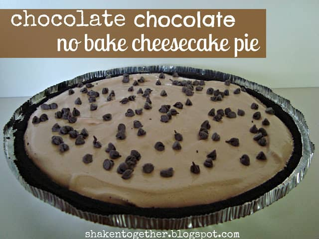 Chocolate chocolate no bake cheesecake pie