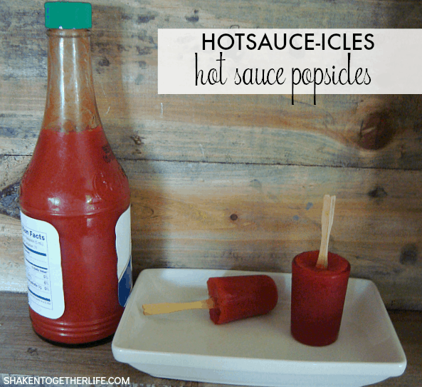 Treat your hot sauce loving friends and family to a kooky little frozen treat ... Hotsauce-icles or hot Sauce Popsicles!