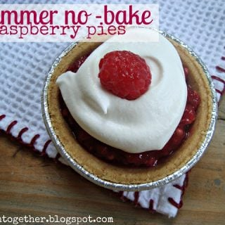 Summer No Bake Raspberry Pies