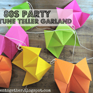 Make a totally rad neon fortune teller garland for your 80s party!