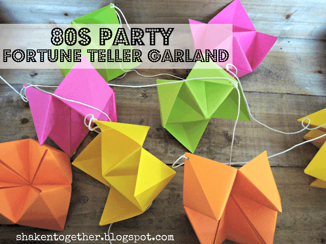 80s Party Fortune Teller Garland