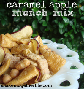 caramel apple munch mix at shakentogetherlife.com
