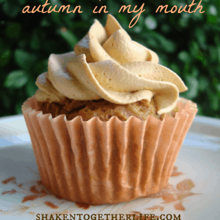 Pumpkin spice cupcakes and topping - only 5 ingredients for both!