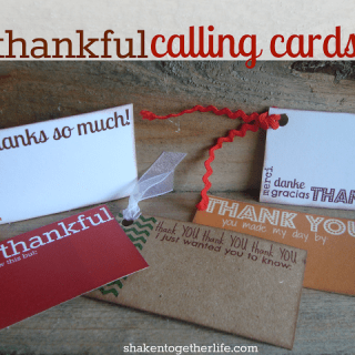 Leave a quick little thankful calling card to say thanks! FREE printable at shakentogetherlife.com