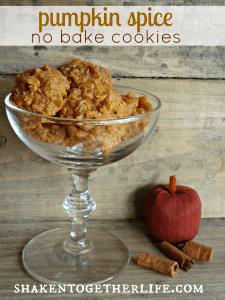 pumpkin spice no bake cookies at shakentogetherlife.com