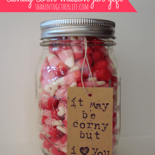 Valentine candy corn mason jar gift at shakentogetherlife.com