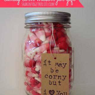 Valentine Candy Corn Mason Jar Gift