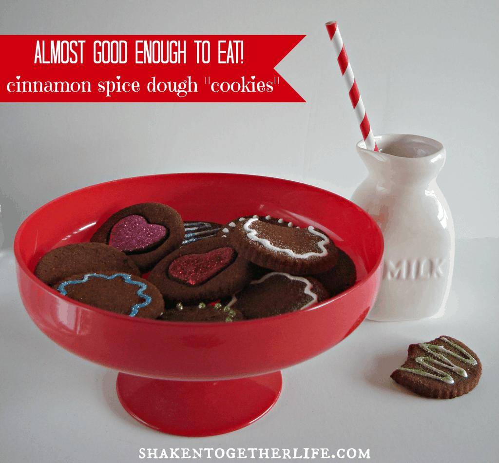 Cinnamon spice dough cookies - like those cinnamon ornaments!