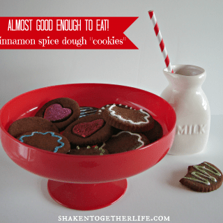 Cinnamon Spice Dough Valentines Cookies for Home Decor