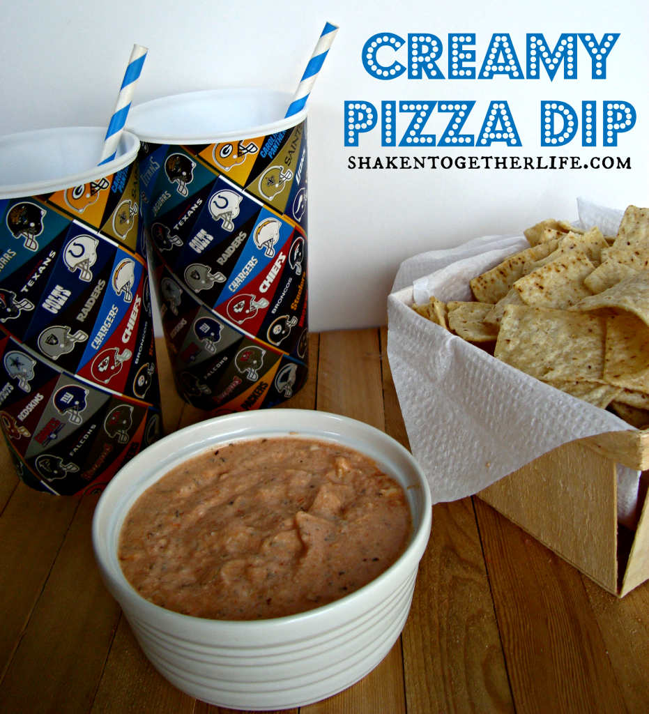 Creamy Pizza Dip is perfect for the big game! Made in the crock pot or microwave!