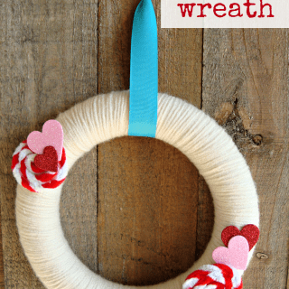 Valentines Wreath with Pipe Cleaner Rosettes