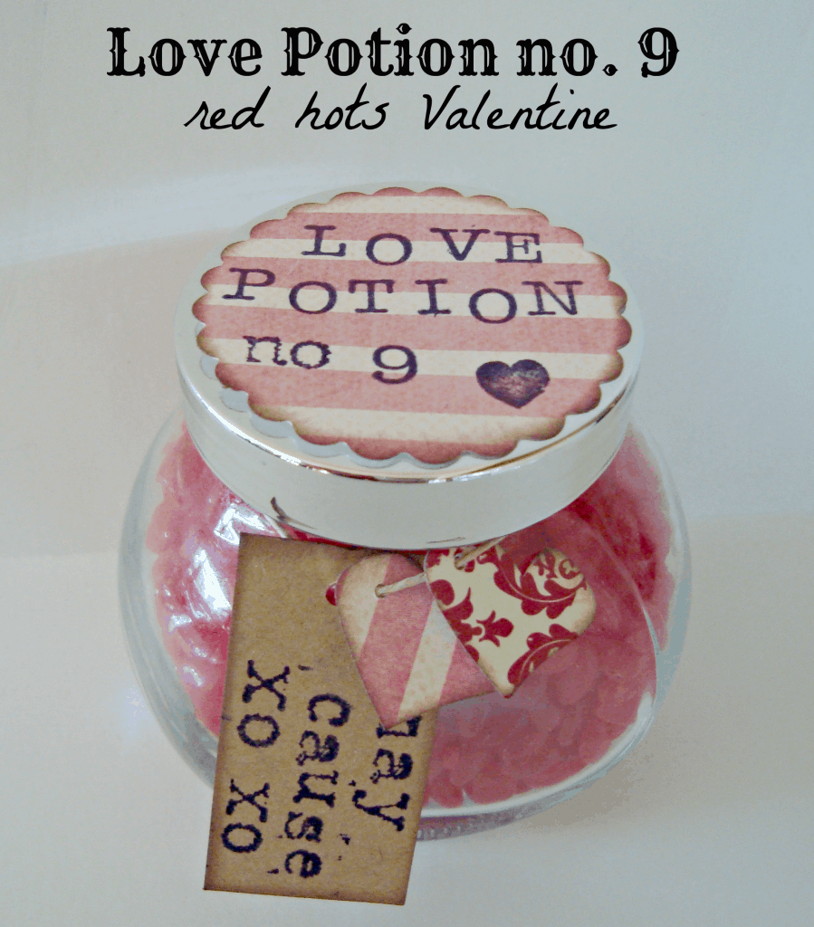 Super cute love potion no. 9 red hots Valentine