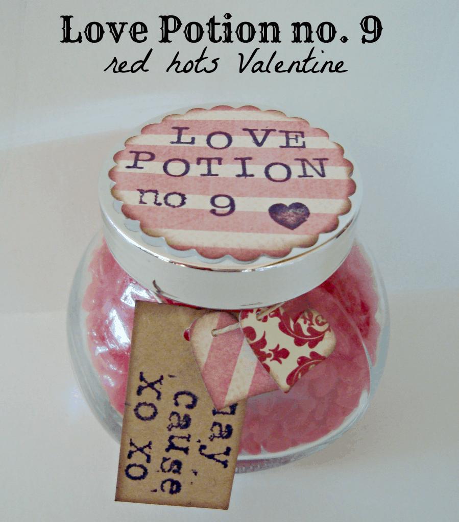 Super cute love potion no. 9 red hots Valentine