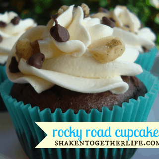 Rocky Road Cupcakes with Marshmallow Buttercream