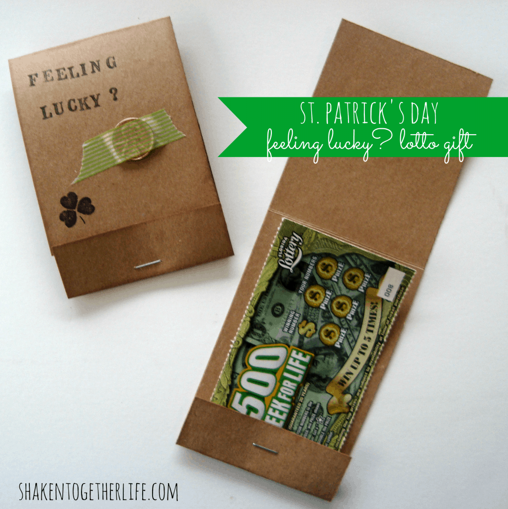 Feeling Lucky? Scratch off lotto ticket gift for St. Patrick's Day!