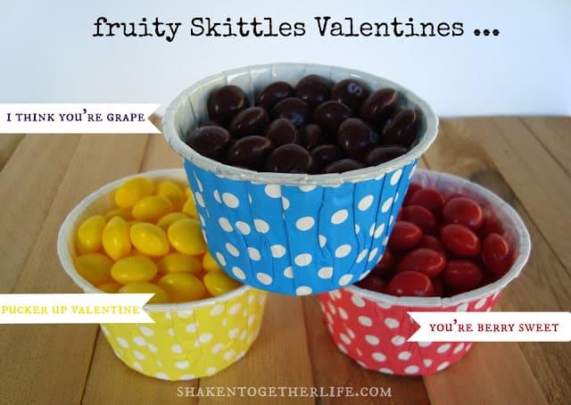 fruity Skittles Valetines from shaken together
