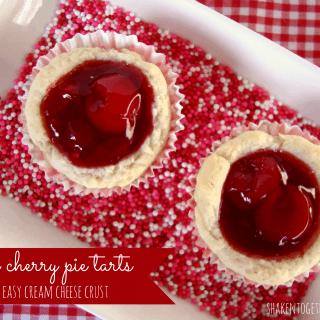 Mini Cherry Pie Tarts with Cream Cheese Pie Crust