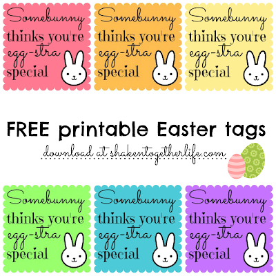 photo about Printable Easter Tag identify bunny lip balm presents for Easter printable tags