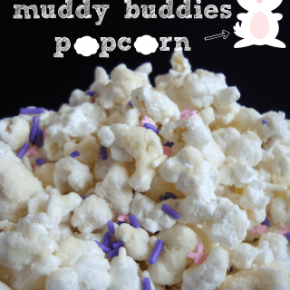 bunny tails {muddy buddies popcorn} ~ a sweet & salty Easter treat