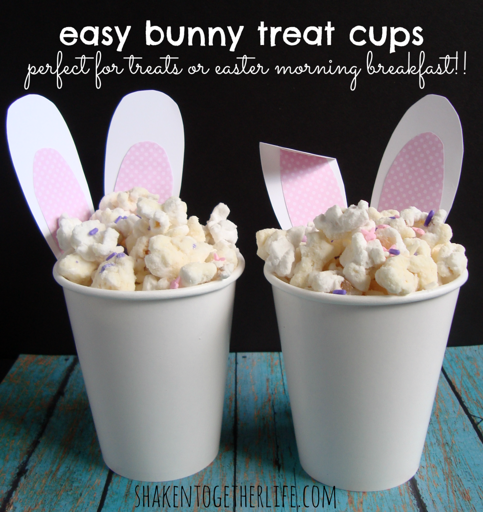 Easy Easter bunny treat cups - they even have fluffy tails!