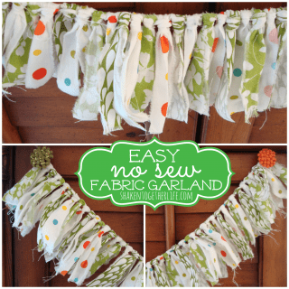 Spring fabric garland – an easy no-sew project