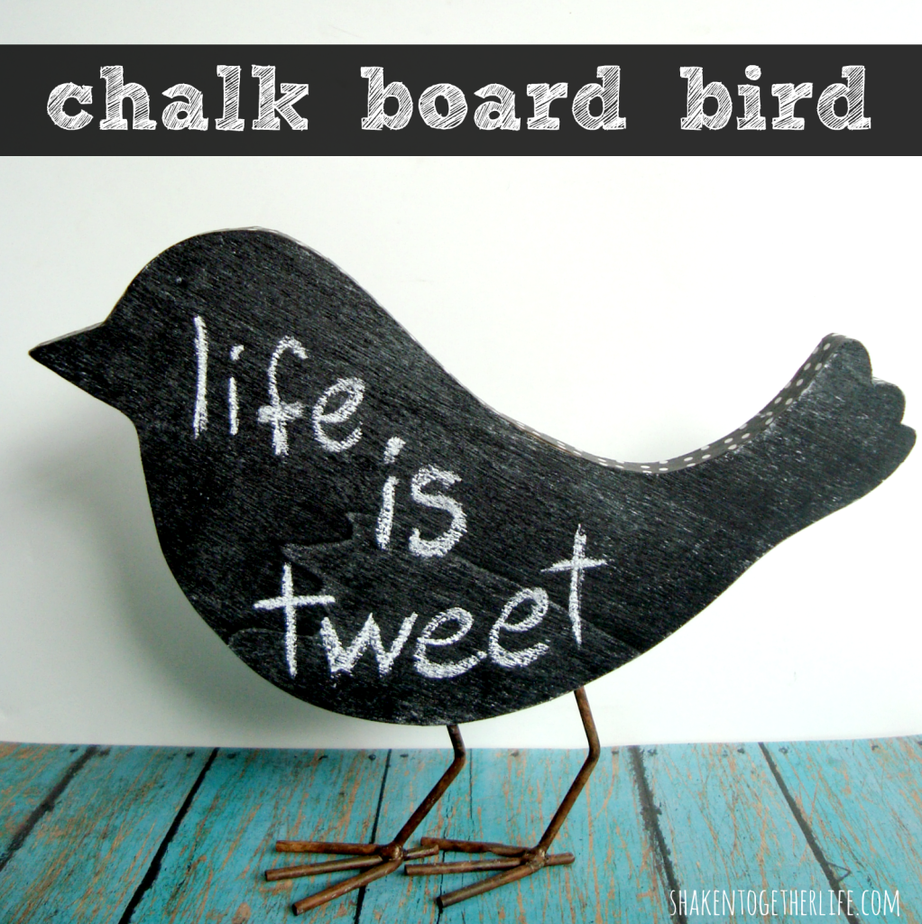 chalk board bird tutorial at shakentogetherlife.com