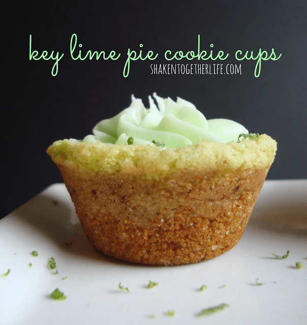 Easy key lime pie cookie cups at shakentogetherlife.com