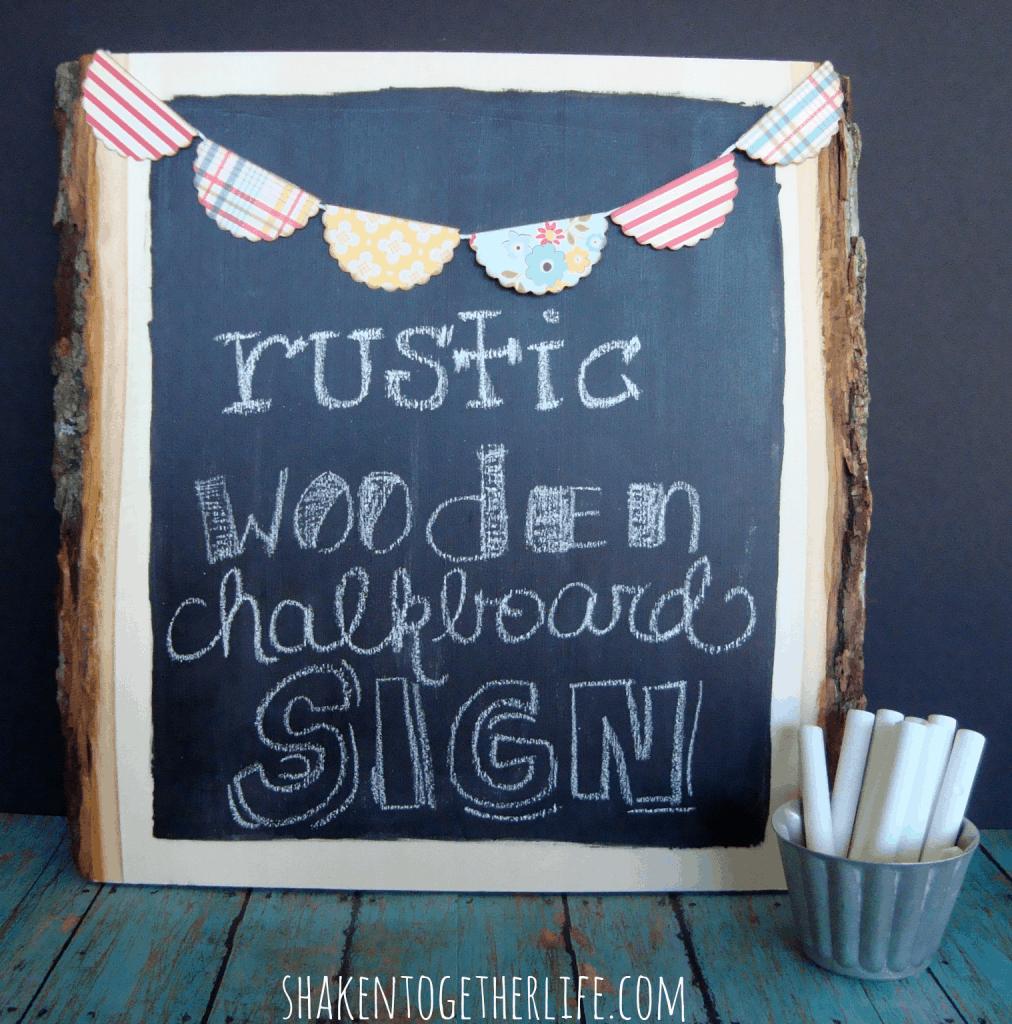 rustic wooden chalkboard sign tutorial at shakentogetherlife.com