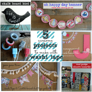 5 washi tape projects at shakentogetherlife.com