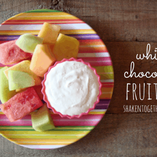 White Chocolate Fruit Dip ~ 2 ingredients
