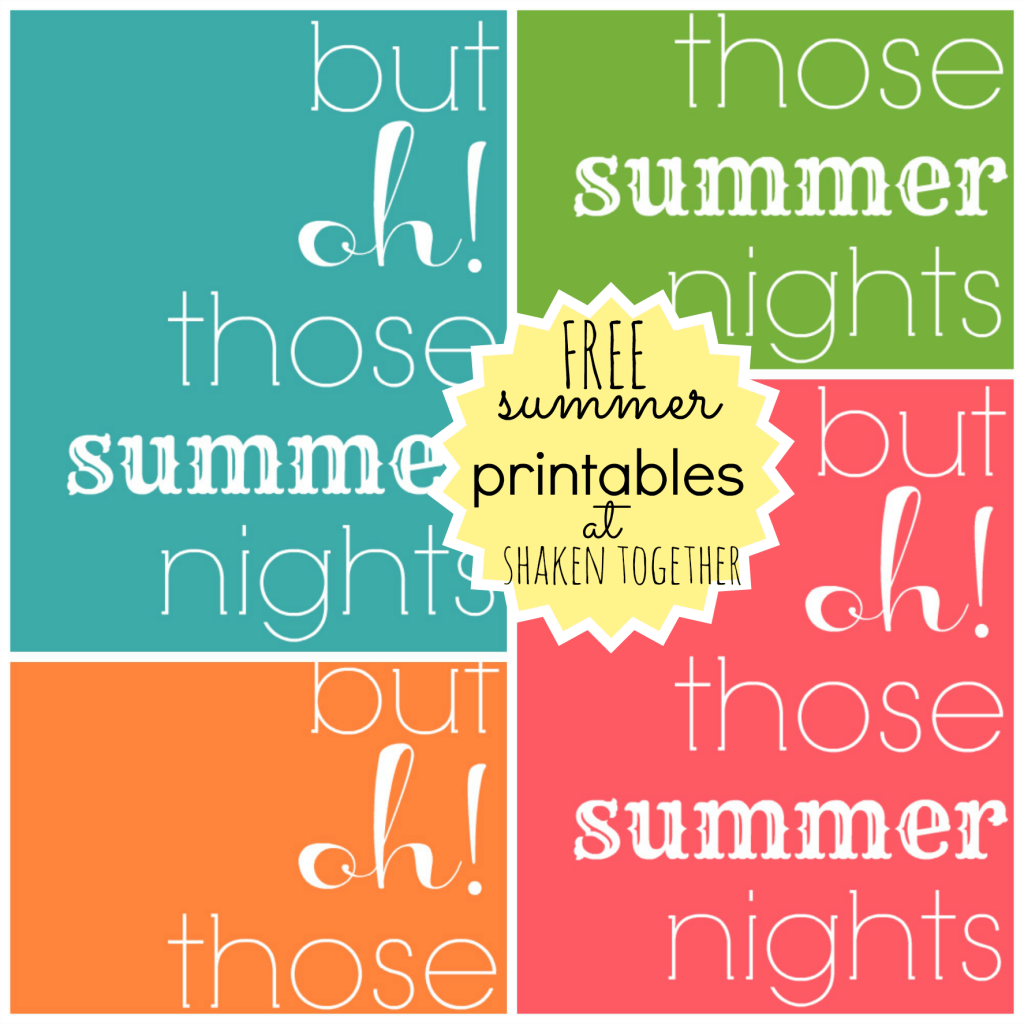 FREE summer printables from shakentogetherlife.com