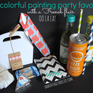 colorful painting party favors with a little French flair at shakentogetherlife.com