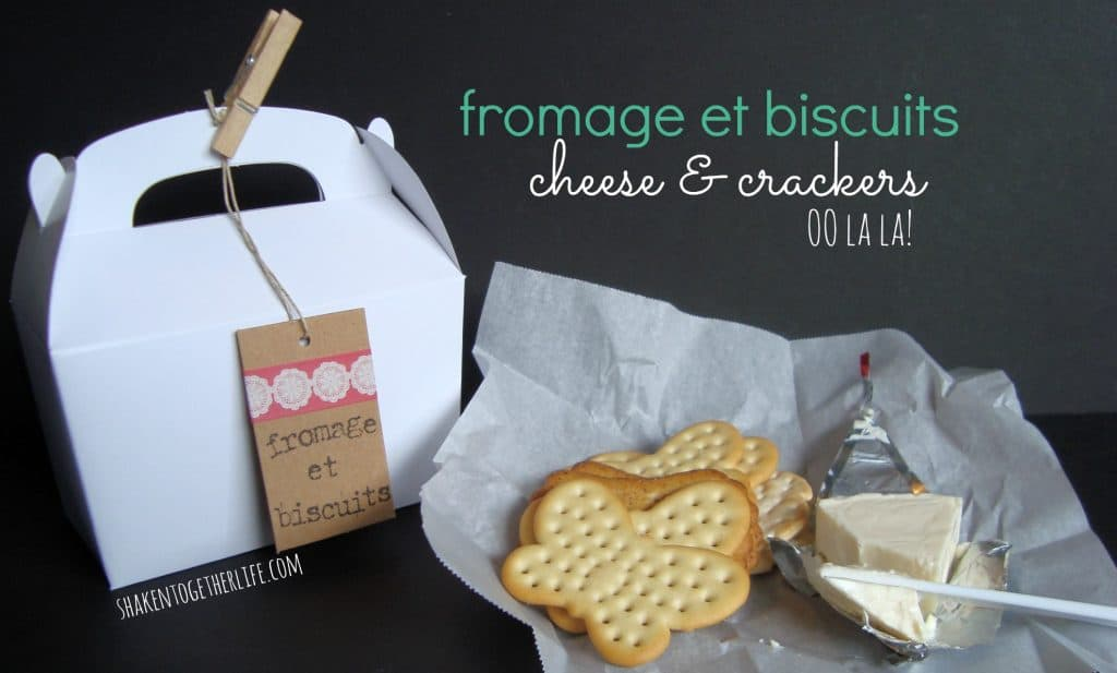fromage et biscuits (cheese & crackers) painting party favors at shakentogetherlife.com