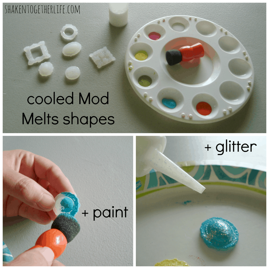 how to paint and decorate Mod Melts at shaken together