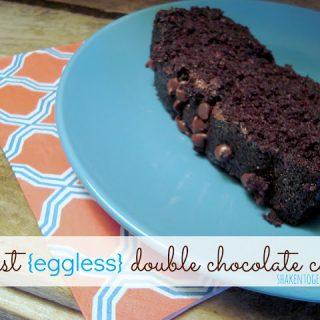 moist eggless double chocolate cake