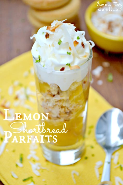 no bake lemon shortbread parfaits - Lemon Tree Dwelling