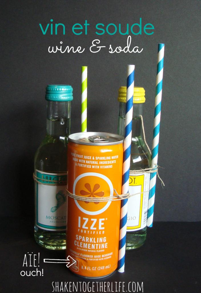 vin et soude {wine & soda} party favors at shakentogetherlife.com