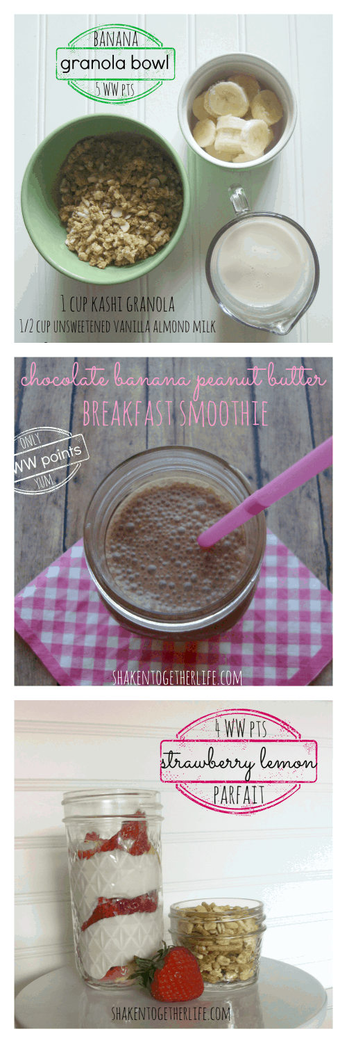 3 healthy breakfast recipes ~ 5 WW points or less ~ at shakentogetherlife.com