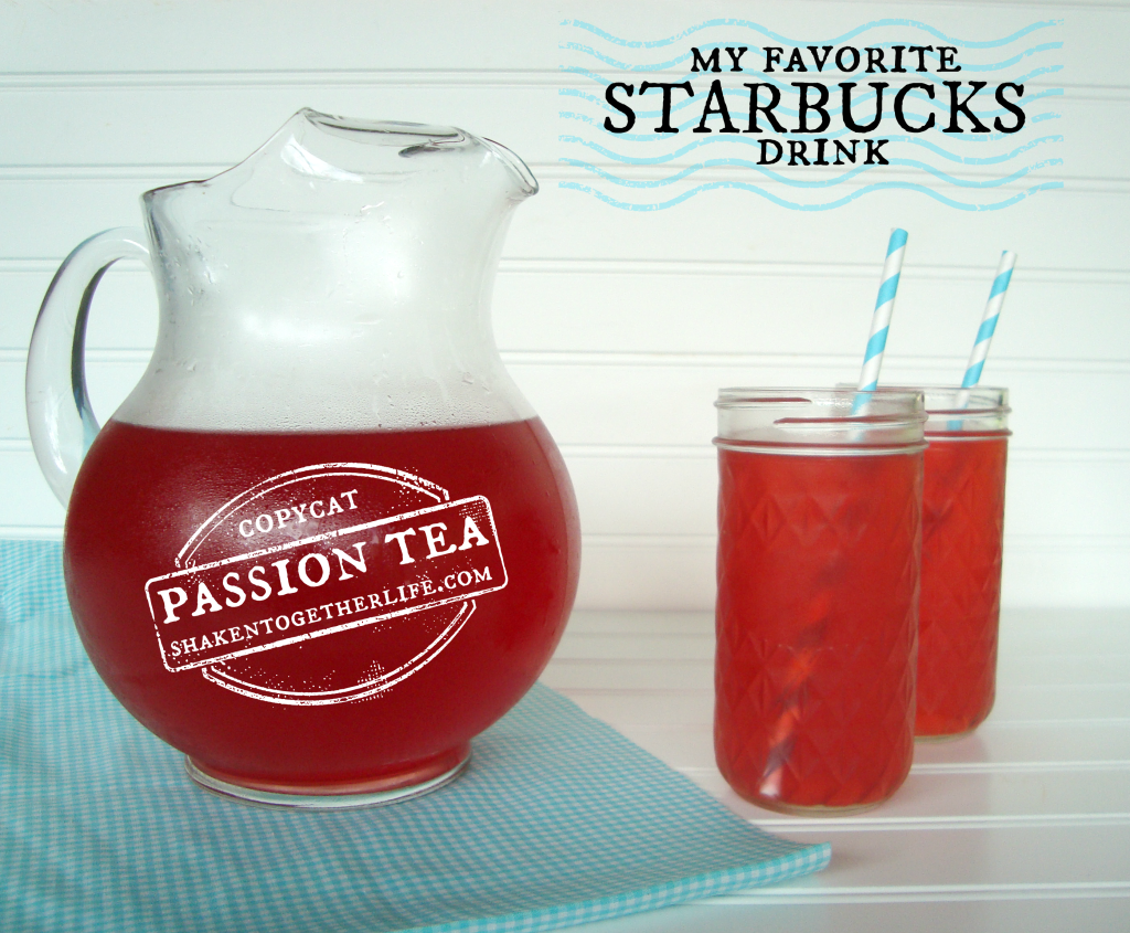 Copycat Starbucks Passion tea with a twist at shakentogetherlife.com