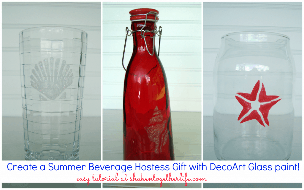 Create a Summer beverage hostess gift with DecoArt glass paint