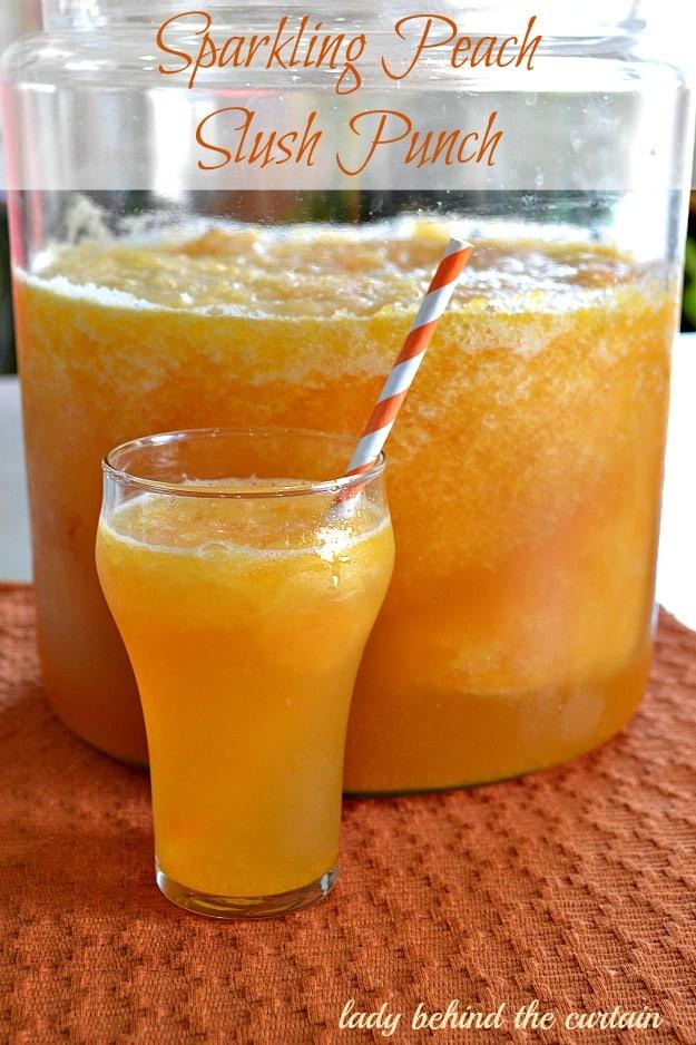 Sparkling Peach Slush Punch